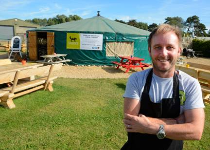 Phillip Milner and his yurt