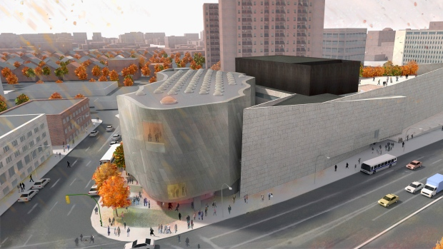 Proposed Inuit Art Centre, artist's rendering | Rendering by Michael Maltzan Architecture