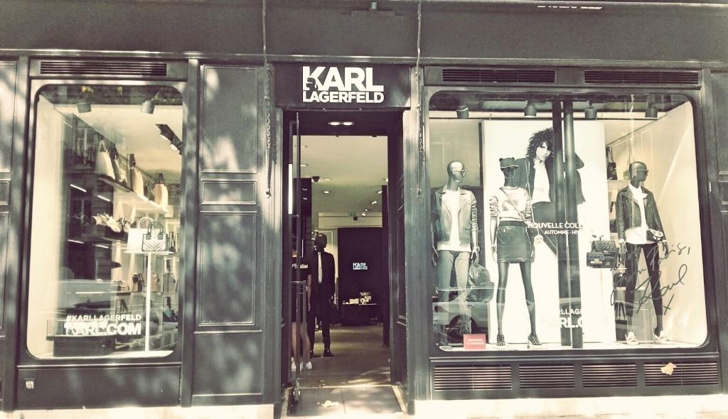Karl Lagerfeld store Saint-Germain │ Courtesy of Paul McQueen