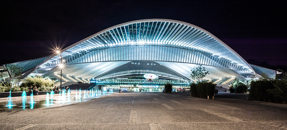 Calatrava's futuristic railway station of tomorrow by night | © Daniel Günther/Flickr