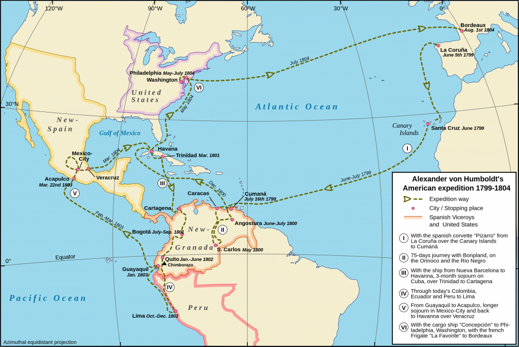 Humboldt's Americas expedition/ wikicomms