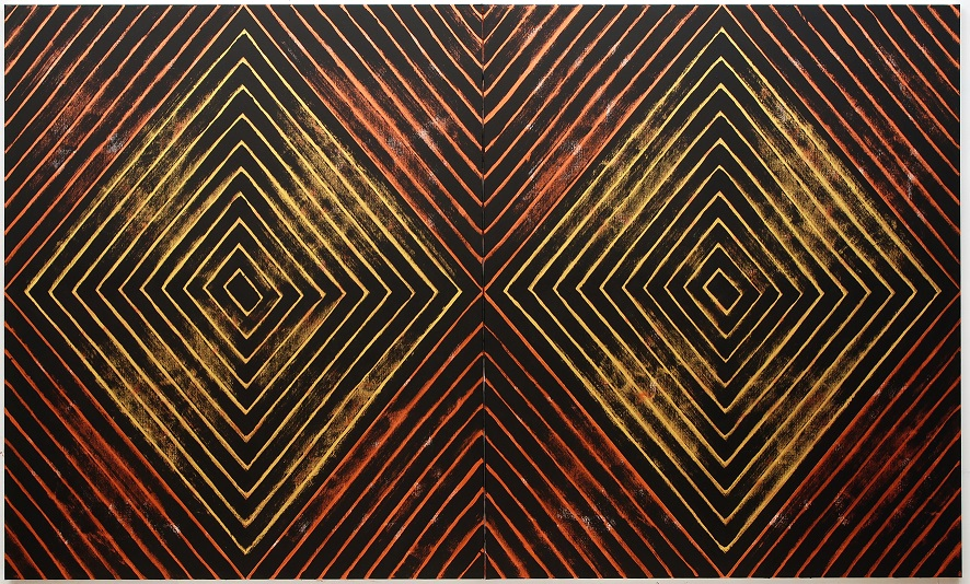 Gordon Bennett, Number Nine, 2008, acrylic paint on linen, Tate and the Museum of Contemporary Art Australia, purchased jointly with funds provided by the Qantas Foundation 2016, image courtesy Museum of Contemporary Art Australia and Milani Gallery, Brisbane © The Estate of Gordon Bennett, 2016, photograph: Carl Warner