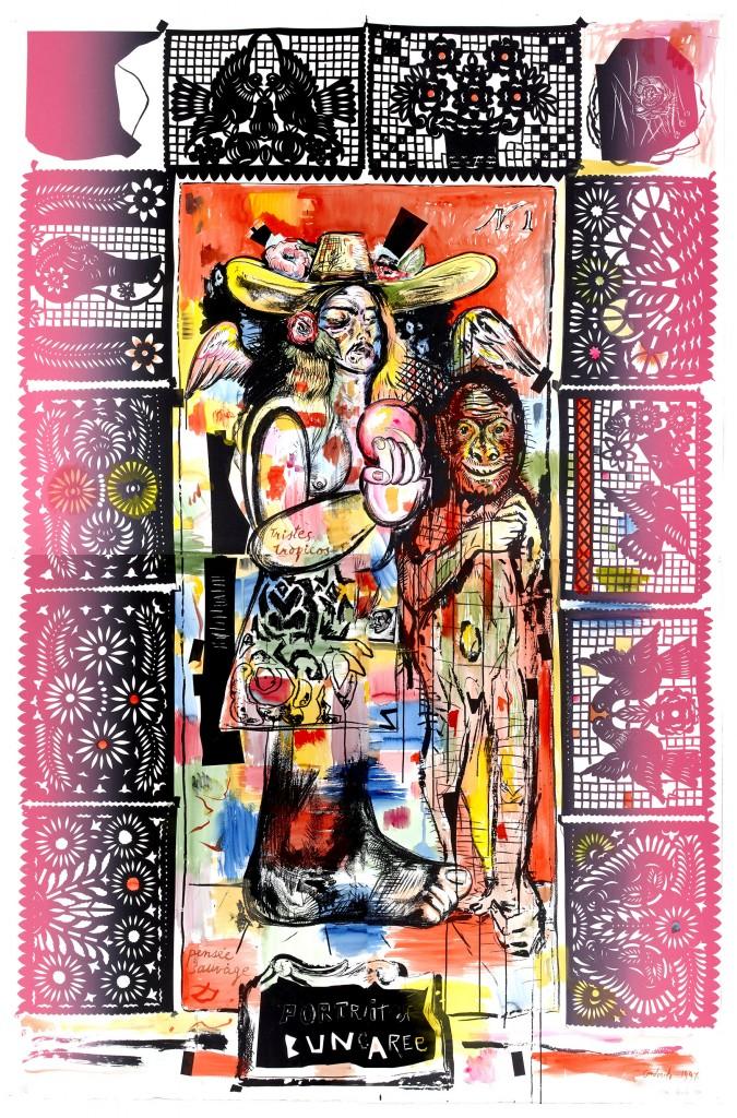 MCA_Juan Davila_Portrait of Bungaree (4 prints)_1991 (HR)