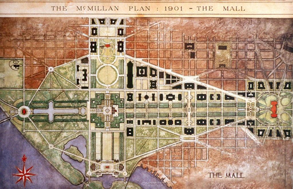 The original McMillan Plan © Photographer/Wikipedia