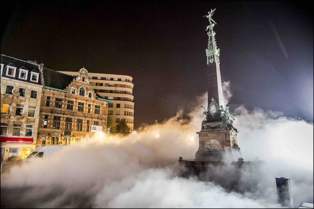 On the night of October the 1st innovative artists are set free to transform the Brussels streets | © Eric Danhier, courtesy of Nuit Blanche