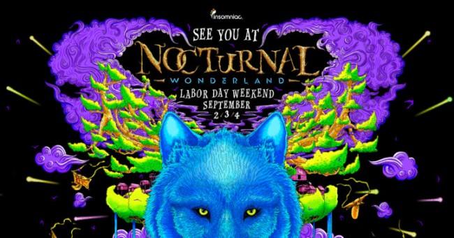 Nocturnal Wonderland/ Promotional Flier via Imsomniac