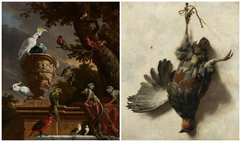 Melchior d'Hondecoeter :De menagerie | © Rijksmuseum / Wikicommons / Jan Baptist Weenix: Dead Partridge | © Mauritshuis / Wikicommons