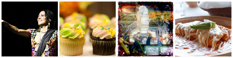 Lila Downs | © Mario/Flickr / Cupcakes | © Joel Olives/Flickr / Diego Rivera | © rob zand/Flickr / Enchiladas | © Darren & Justine/Flickr
