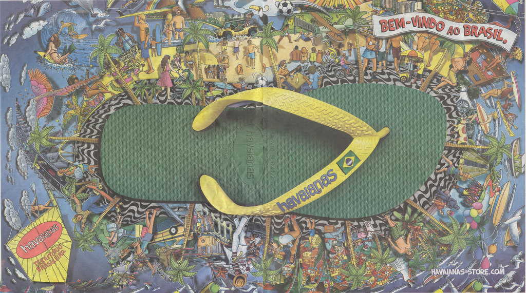 Brazil-styled Havaianas with the signature Brazil flag |© KaMpErƎ & Le-tticia/Flickr