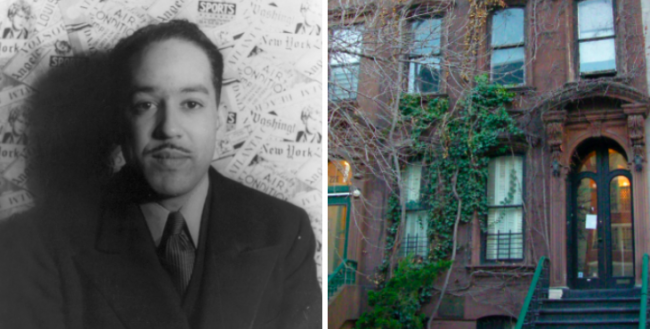 Langston Hughes (left) © Carl Van Vechten and the Hughes Home (right) © America's Roof, both courtesy of Wikicommons
