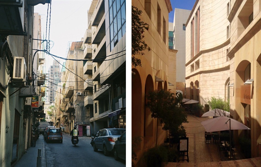 Bourj Hammoud contrasted with Downtown Beirut | Courtesy of Harriet Shepherd