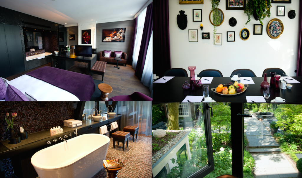 this hotel is tucked inside the heart of jordaan and is contained within a 17th