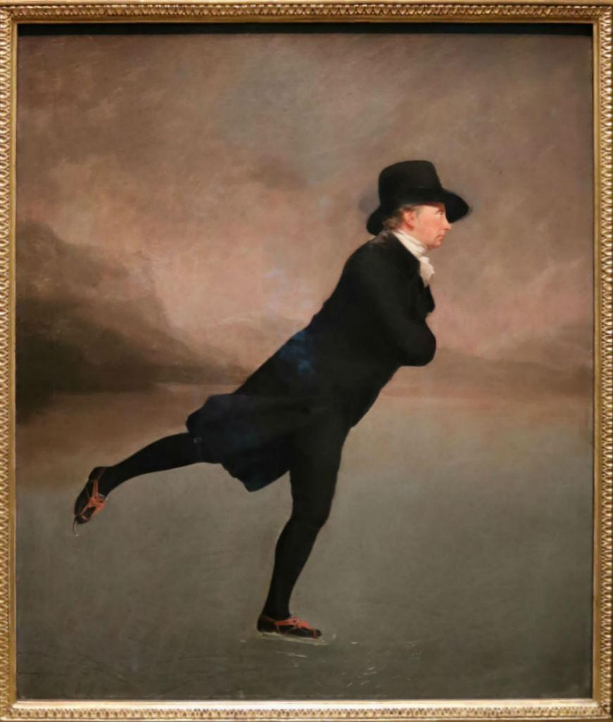Sir Henry Raeburn, The Reverend Robert Walker Skating On Duddingston Loch, c.1795   Courtesy Of Tori Chalmers