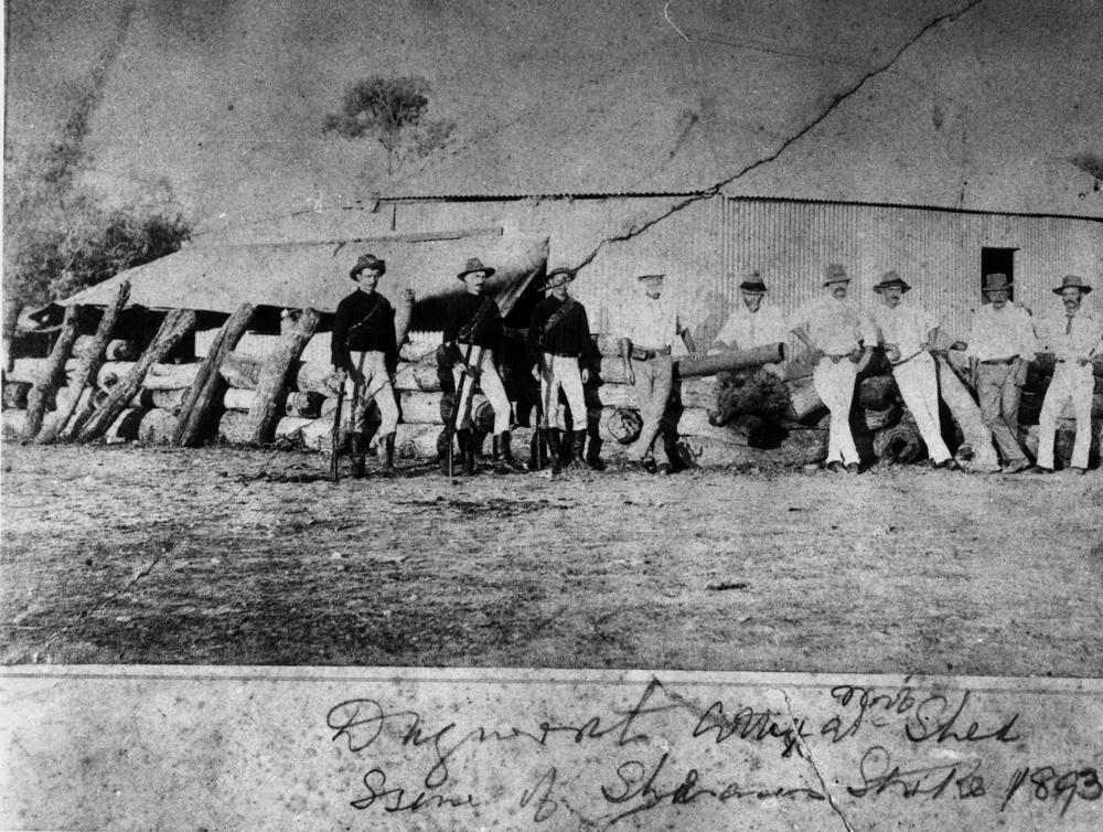 Troopers at Dagworth Station during the Shearer's Strike in 1894   © Unknown / WikiCommons