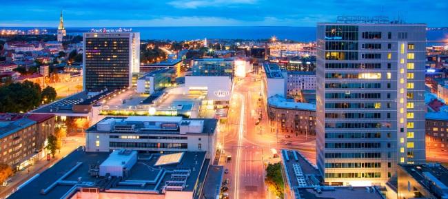 Tallinn at night  © Visit Estonia.