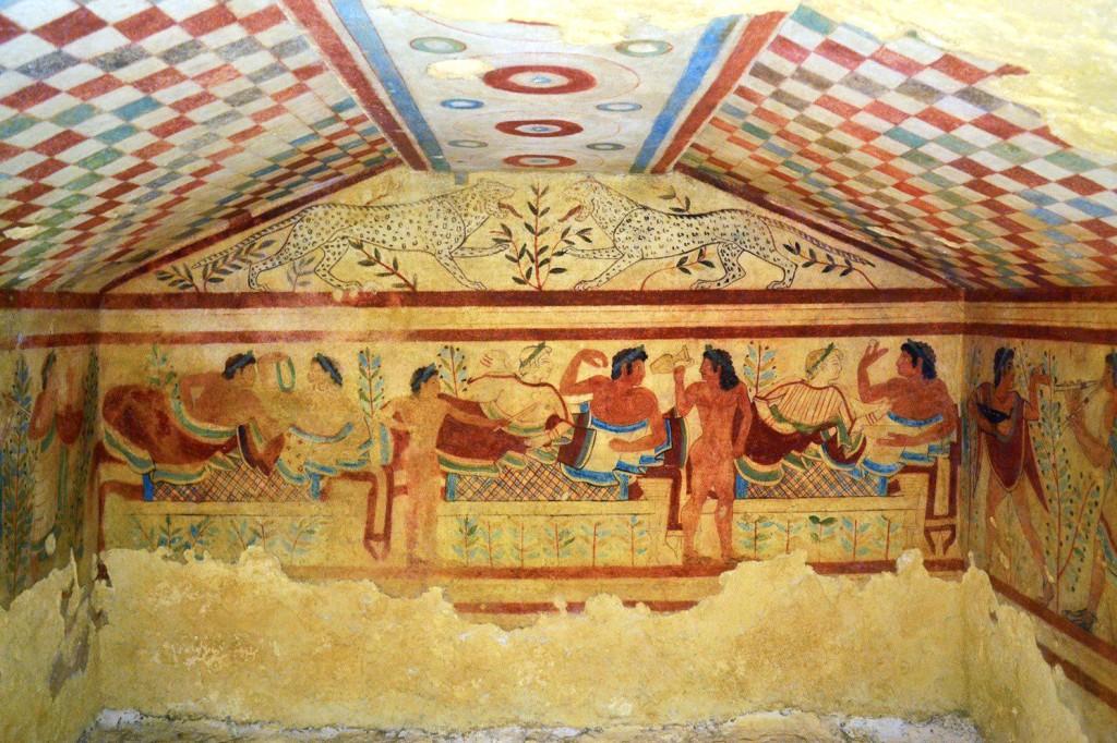 Painted Tombs in Tarquinia   © Livia Hengel