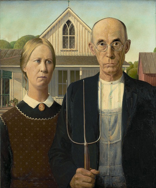 American Gothic, courtesy of Wikimedia Commons