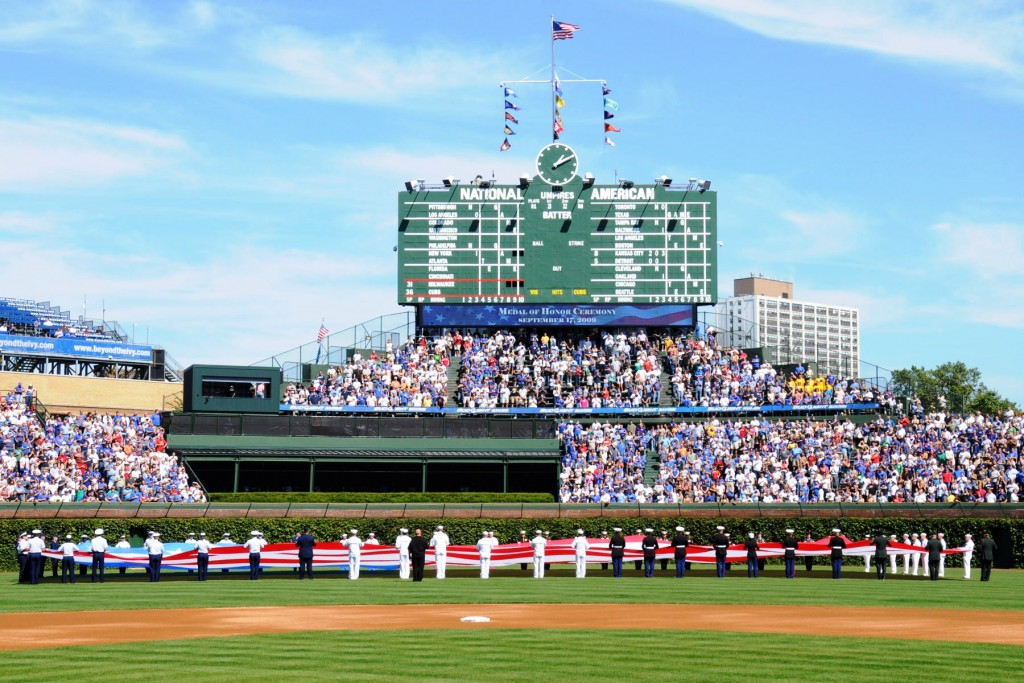 Wrigley Field, courtesy of Wikimedia Commons