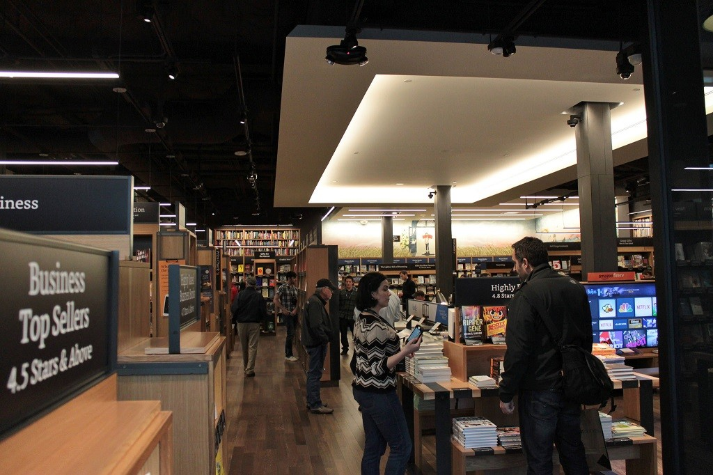 Amazon Books store in Seattle, courtesy of Flickr: SounderBruce
