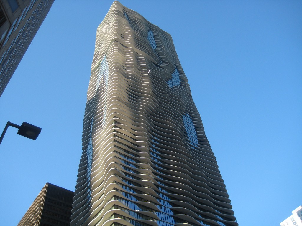 Aqua Tower, courtesy of Flickr: Julen Iturbe-Ormaetxe