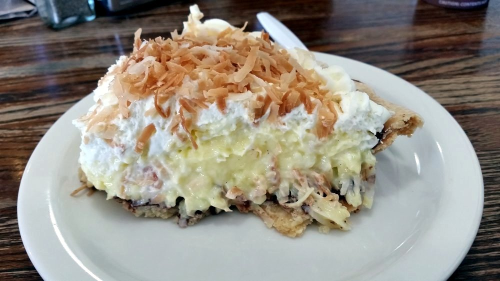 Coconut Cream Pie at Upper Crust Bakery | Courtesy of Phillip B. of Yelp