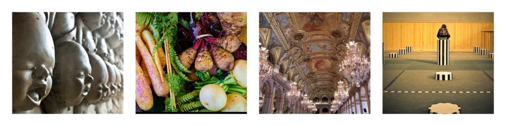 H.R. Giger © Simon Bonaventure/Flickr │ Vegetables © Moyan Brenn/Flickr │ La Salle des Fêtes © patrick janicek │ Street photography in Paris © kimdochac/Flickr
