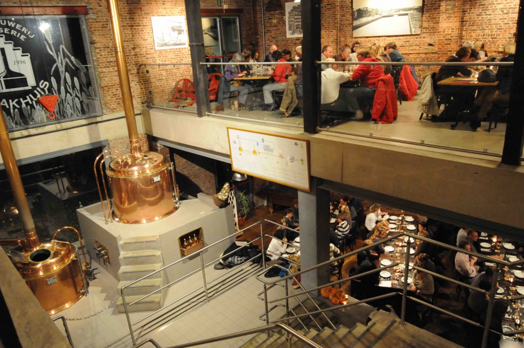 't Pahuis opened up its brewing process for the world to see when they placed their shiny copper vats in the middle of a grand industrial bar | Courtesy of 't Pakhuis