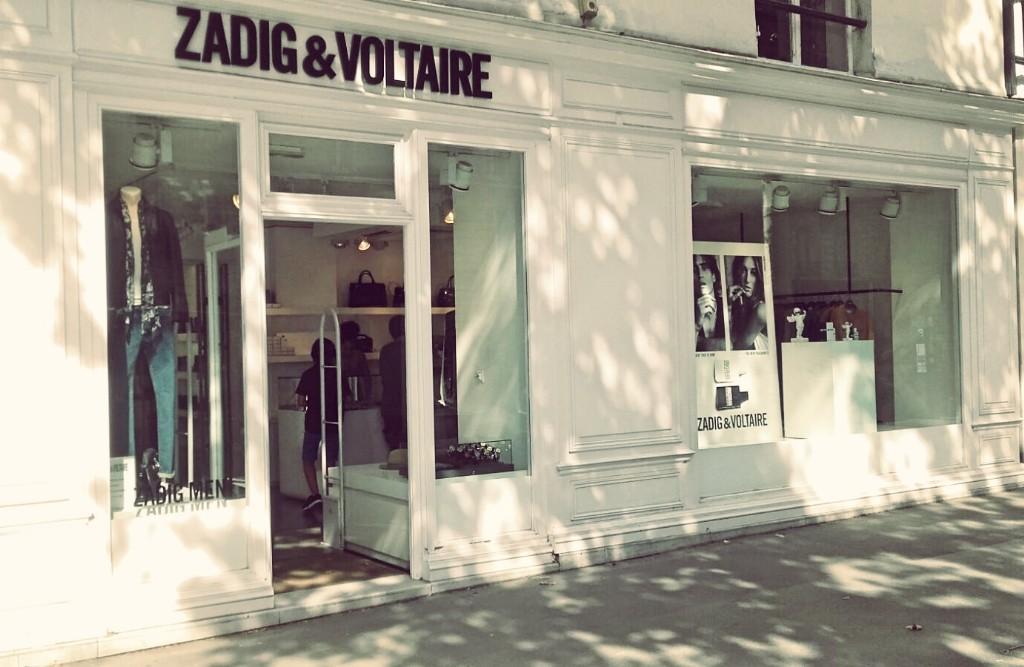 Zadig & Voltaire store Saint-Germain │ Courtesy of Paul McQueen