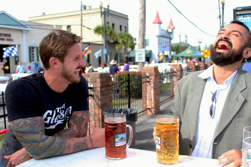 People enjoyed drinking German beer and eating sausages during the Deutsches Haus Oktoberfest in the area of Rivertown in the city of Kenner, courtesy of Valeria Kawas