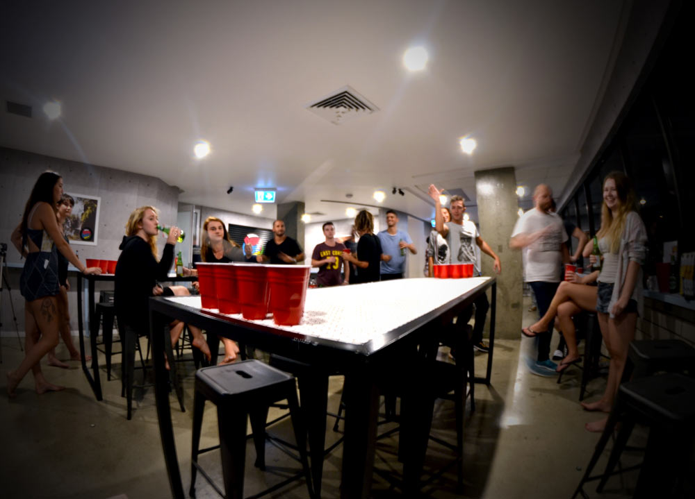 No hostel is complete without a game of Beer Pong | Courtesy of Down Under Hostels