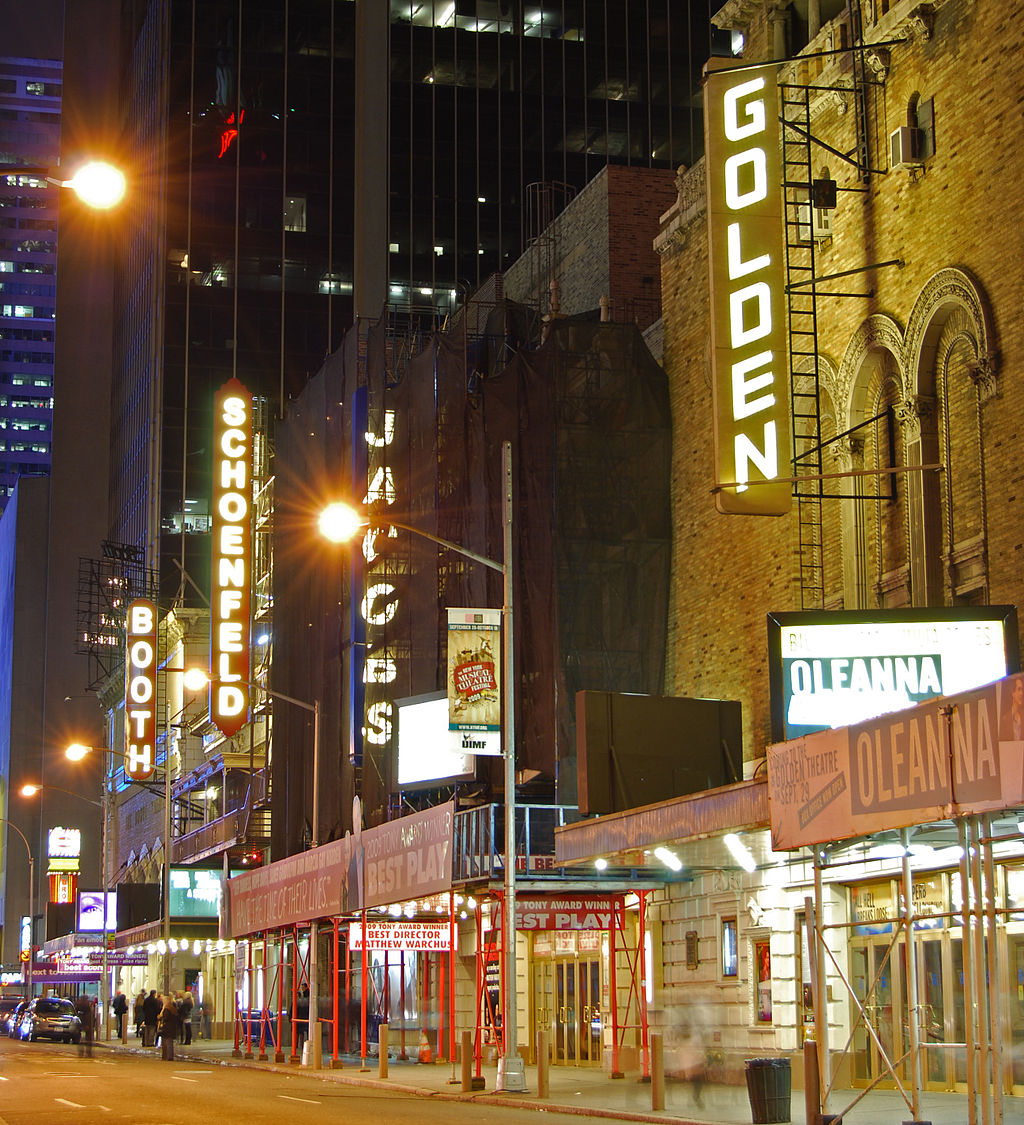 Theaters in the Theater District of NYC | © Wikipedia Commons