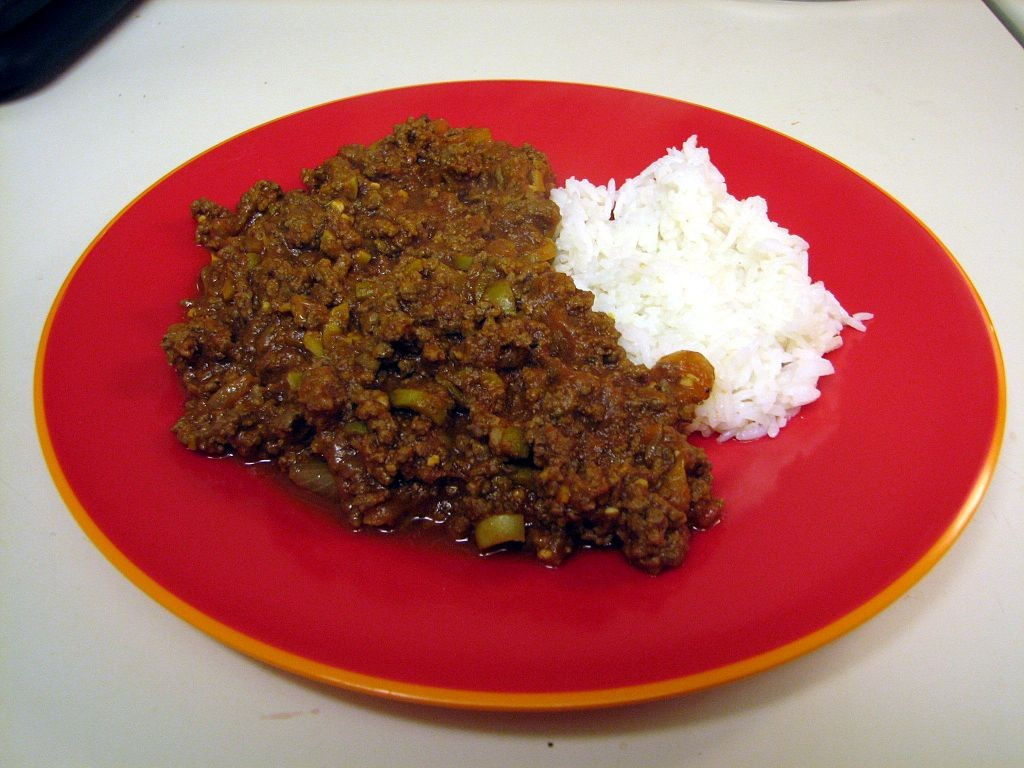 Meat with Rice | © Cary Bass, Wikipedia Commons