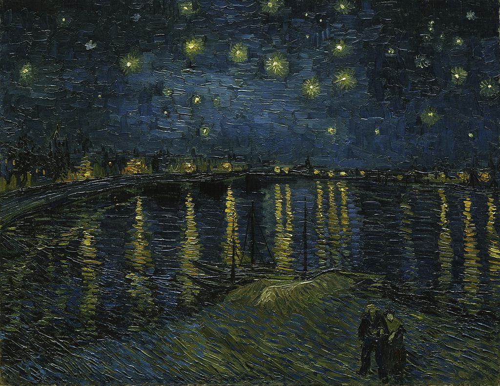Vincent Van Gogh, Starry Night over the Rhone at Arles, 1888 | © Google Art Project