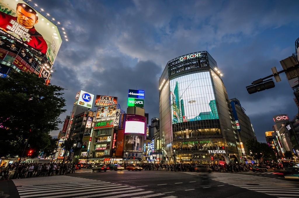 Shibuya Crossing at sunset | © David Bertho/Flickr