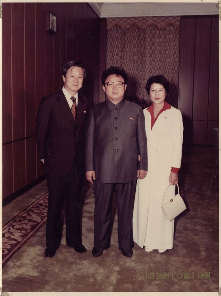 Director Shin Sang-ok and actress Choi Eun-hee flank Kim Jong-il. | © Courtesy of Magnolia Pictures.