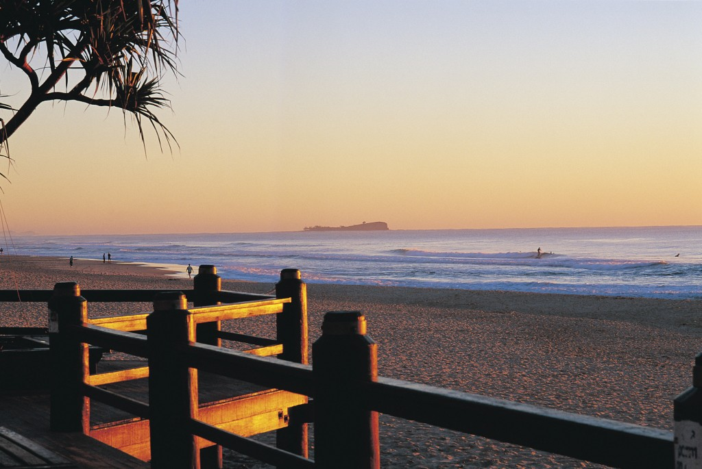 Maroochydore Beach, View to Old Woman Island   Courtesy of Tourism and Events Queensland