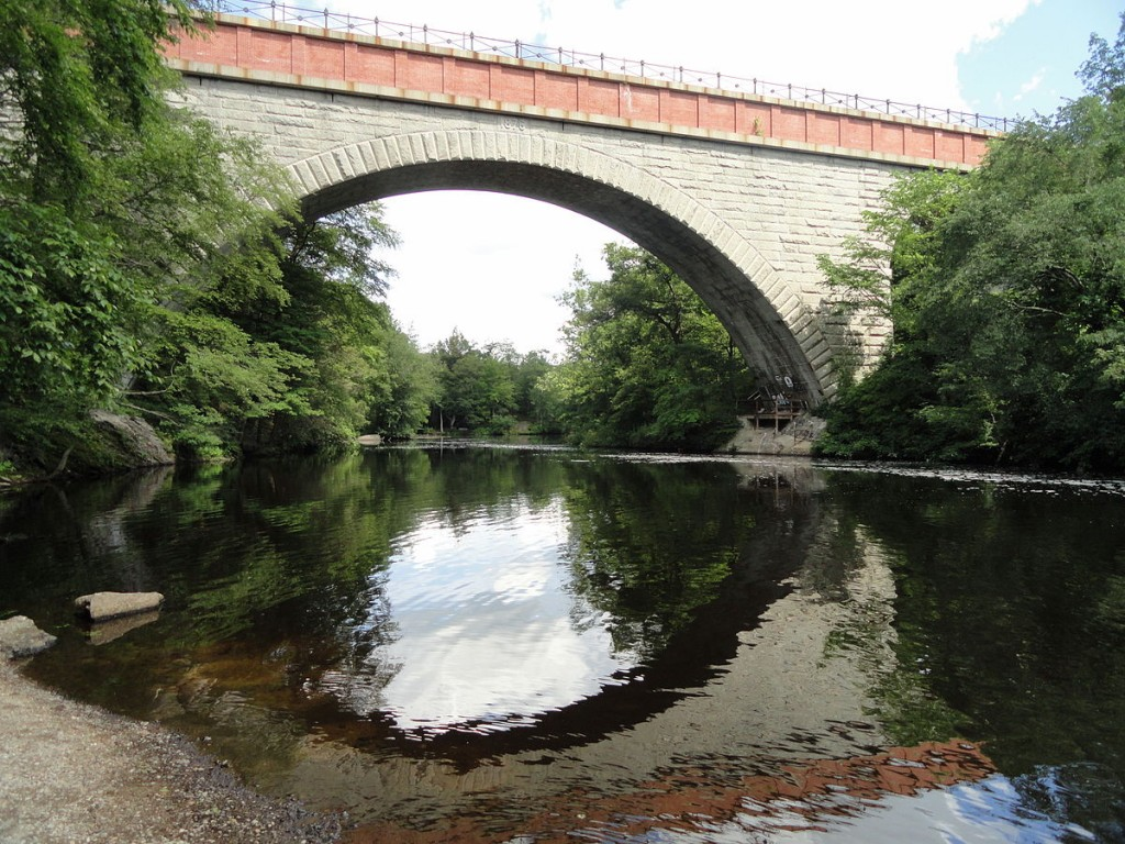 Echo Bridge in Newton| ©Daderot/Wikipedia