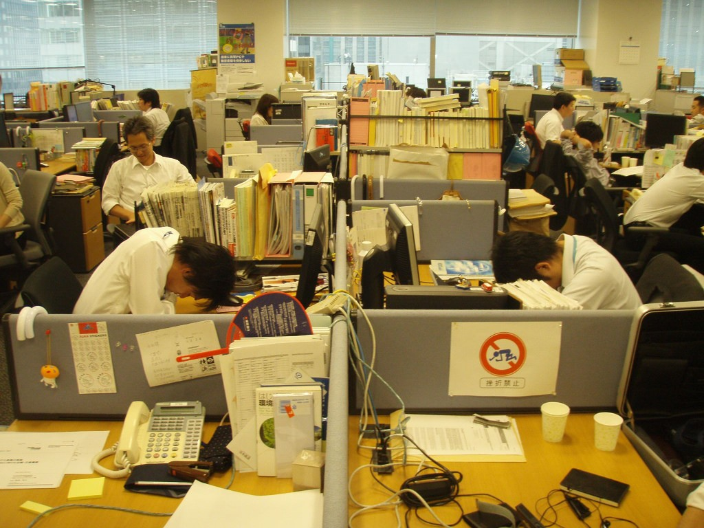 Office workers practicing inemuri at the office | © hiroo yamagata/Flickr