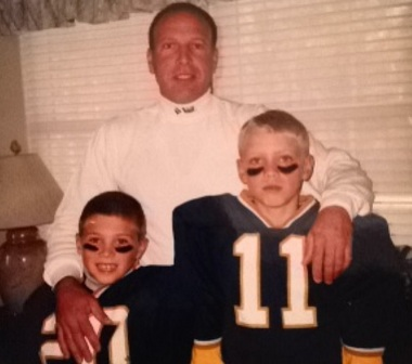 The late Don Spadola, rear, poses with his sons Ryan, right, and Randy | Courtesy of Ryan Spadola