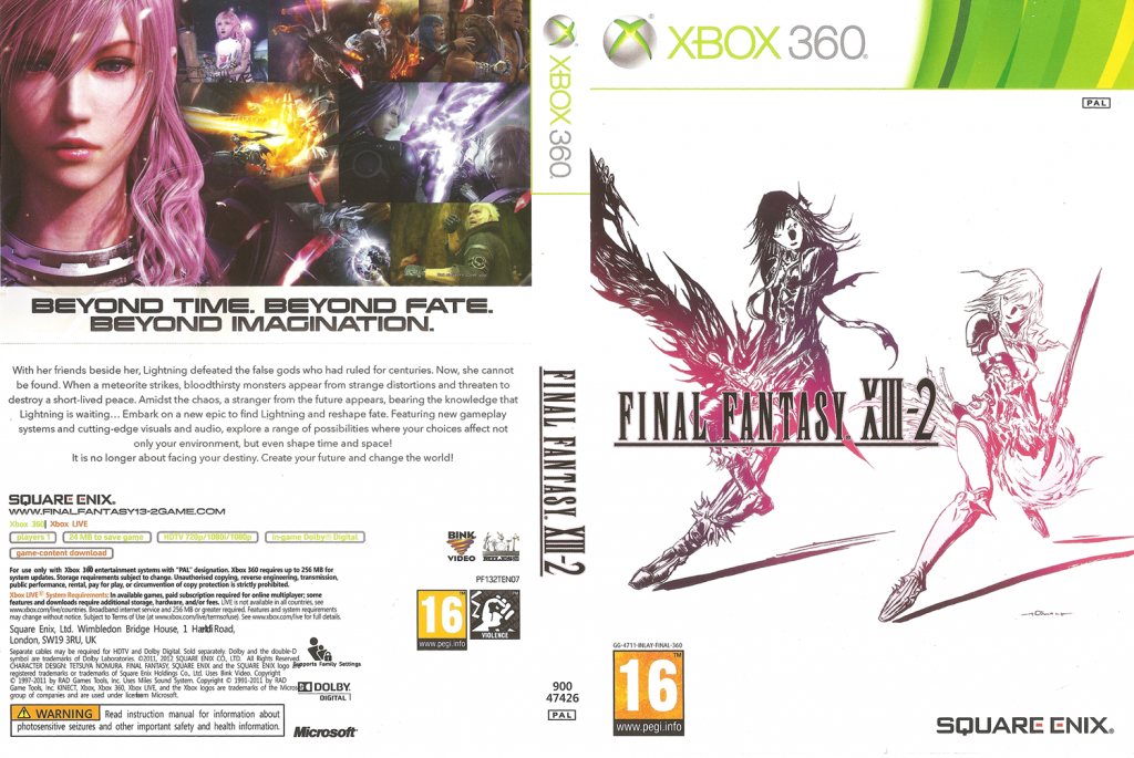 Final Fantasy XIII cover art and back for the Xbox360 European version | © Square Enix
