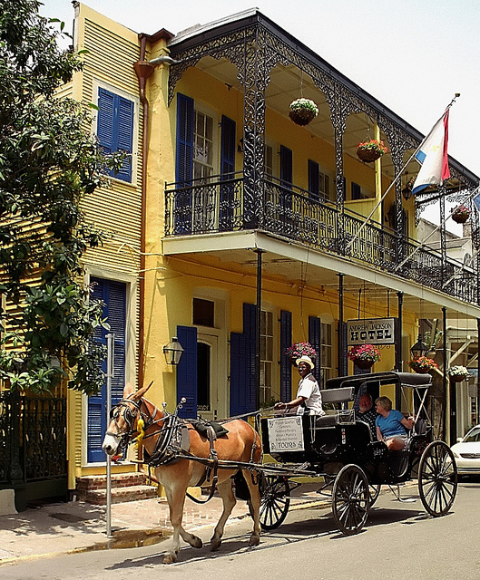 The Andrew Jackson Hotel in the French Quarter, New Orleans |© David Ohmer/Flickr