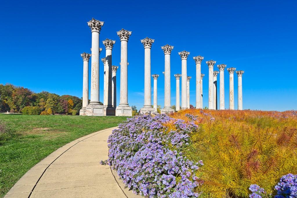 National Arboretum Columns | ©Nicolas Raymond/Flickr