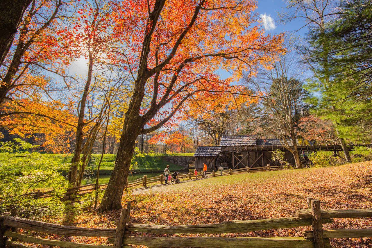 Fall Colors, Mabry Mill, VA | © Sarath Kuchi/Flickr