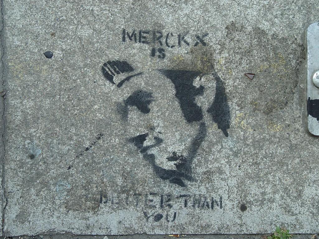 "Even San Francisco sidewalks know that Merckx is ""better than you""   © Franco Folini/Flickr"