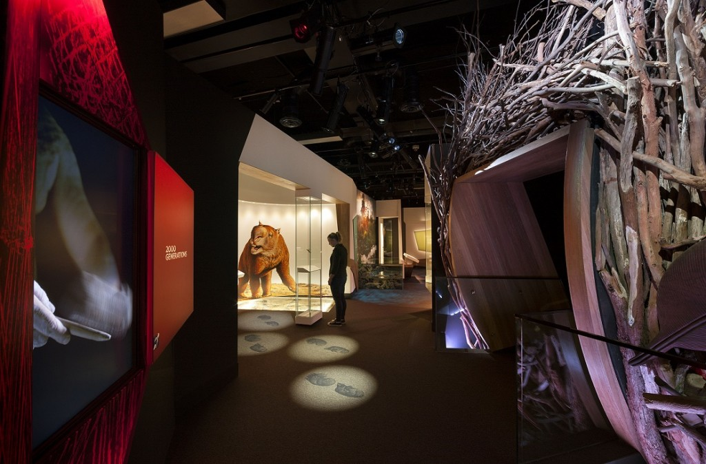 4. 'Our Story' section of First Peoples exhibition at Bunjilaka Aboriginal Cultural Centre at Melbourne Museum_credit_Dianna Snape Phot