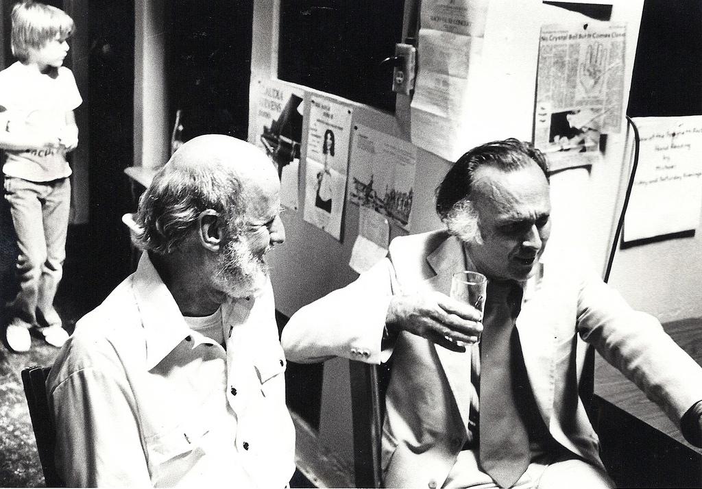 Lawrence Ferlinghetti (left) with Robert Duncan © Gary Stevens/Flickr