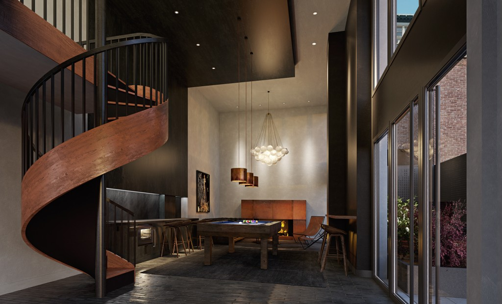 55 W 17th, Resident Lounge; © Toll Brothers