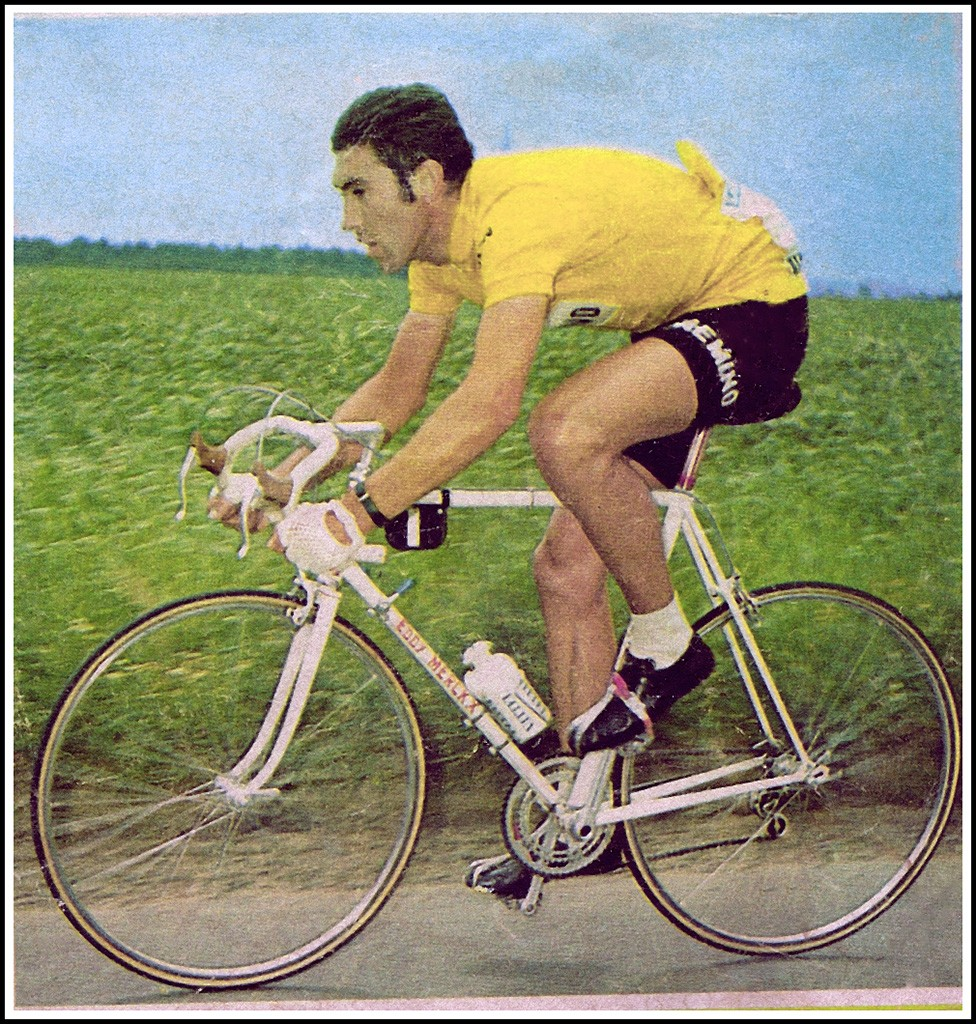 Eddy Merck in 1970, wearing the yellow jersey he would don for the Tour the France 92 times   © Chris Protopapas/Flickr