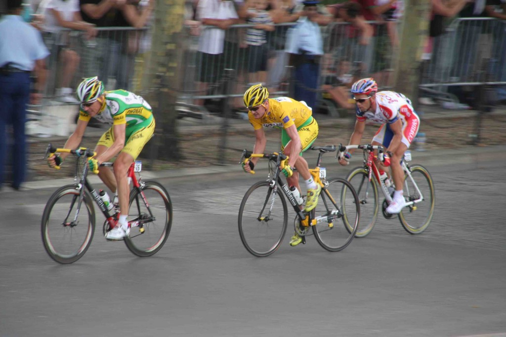 Axel with Floyd Landis and Jimmy Casper in the 2006 Tour de France 2006   © colinedwards99/Flickr
