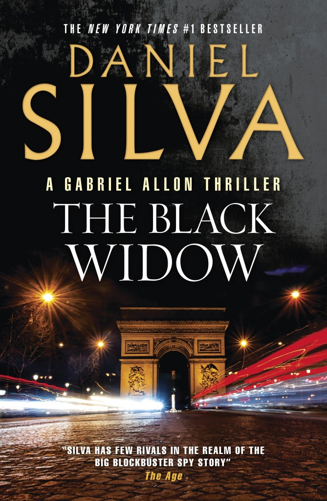 The Black Widow by Daniel Silva, RRP $32.99 is available for purchase in store and online now. Courtesy of (HarperCollins)